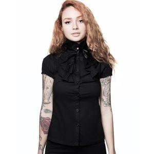 Killstar Lorai ruffle button up shirt